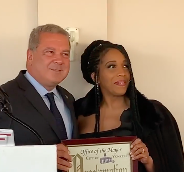 CONGRATS TO OUR VERY OWN JANEA L. POWELL as Yonkers Mayor Mike Spano proclaims today JANEA L. POWELL DAY!